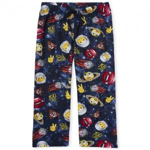 Boys Space Emoji Print Pajama Pants