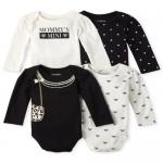 Baby Girls Long Sleeve Fashionista Bodysuit 4-Pack
