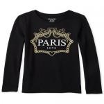 Girls Glitter Paris Graphic Tee