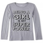Girls Glitter Super Power Graphic Tee