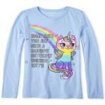 Girls Unicorn Kitty Graphic Tee