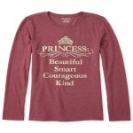 Girls Glitter Princess Graphic Tee