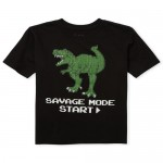 Boys Short Sleeve 'Savage Mode' Dino Graphic Tee