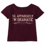 Baby And Toddler Girls Glitter Dramatic Graphic Tee