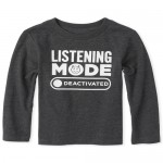 Baby And Toddler Boys Listening Mode Graphic Tee