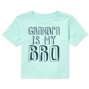 Baby And Toddler Boys Short Sleeve 'Grandpa Is My Bro' Graphic Tee