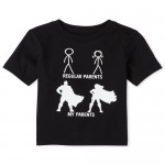 Baby And Toddler Boys Superhero Parents Graphic Tee