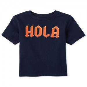 Baby And Toddler Boys Hola Graphic Tee