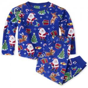 Unisex Kids Matching Family Dear Santa Fleece Pajamas