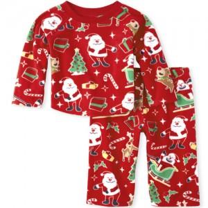 Unisex Baby And Toddler Matching Family Dear Santa Fleece Pajamas