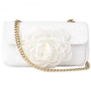 Girls Glitter Flower Bag