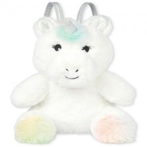 Girls Holographic Faux Fur Unicorn Bag