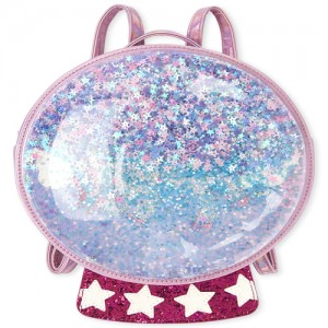 Girls Shakey Unicorn Snow Globe Light Up Mini Backpack