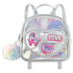 Girls Holographic Shakey Llamacorn Mini Backpack