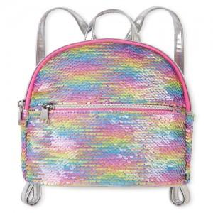 Girls Rainbow Flip Sequin Mini Backpack