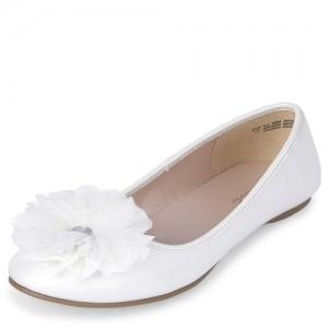 Girls Iridescent Flower Ballet Flats