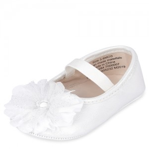 Baby Girls Iridescent Flower Ballet Flats