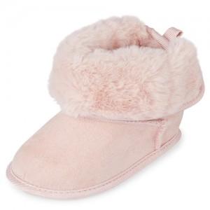 Baby Girls Faux Fur Booties