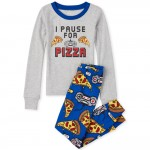 Boys Pizza Video Game Snug Fit Cotton Pajamas