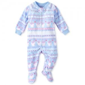 Baby And Toddler Girls Fair Isle Fleece One Piece Pajamas