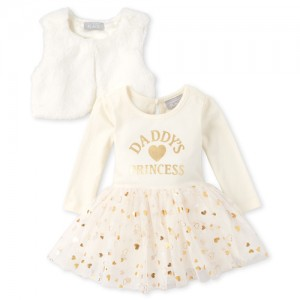 Baby Girls Foil Daddy's Princess Outfit Set