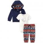 Baby Boys Polar Bear Family 3-Piece Playwear Set