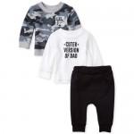 Baby Boys Camo Dad 3-Piece Playwear Set