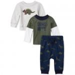 Baby Boys Dino 3-Piece Playwear Set