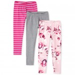 Girls Print Leggings 3-Pack