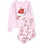 Girls Matching Very Merry Unicorn Snug Fit Cotton Pajamas