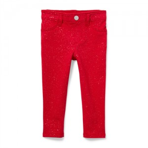 Baby And Toddler Girls Glitter French Terry Pull On Jeggings