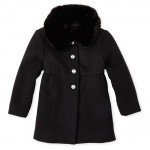 Baby And Toddler Girls Faux Fur Collar Dressy Coat