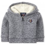 Baby And Toddler Boys Sherpa Sweater Fleece Zip Up Hoodie