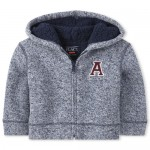 Baby And Toddler Boys Sherpa Sweater Fleece Zip Up Hoodie