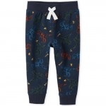 Baby And Toddler Boys Active Dino Fleece Jogger Pants