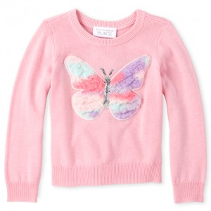 Baby And Toddler Girls Faux Fur Sweater