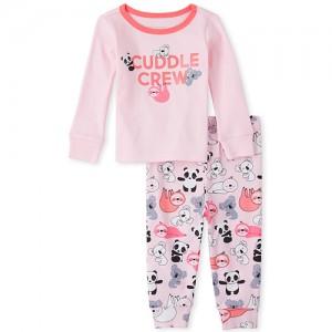 Baby And Toddler Girls Cuddle Crew Snug Fit Cotton Pajamas