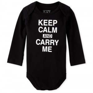 Unisex Baby Keep Calm Graphic Bodysuit