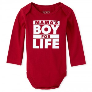 Baby Boys Mama's Boy Graphic Bodysuit