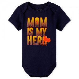 Baby Boys Mom Is My Hero Graphic Bodysuit