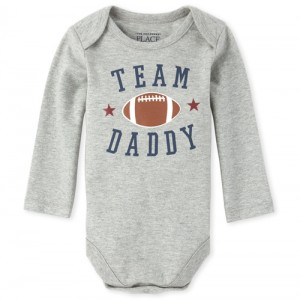 Baby Boys Team Daddy Football Graphic Bodysuit