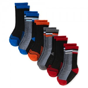 Baby And Toddler Boys Colorblock Crew Socks 6-Pack