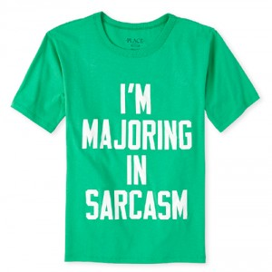 Boys Sarcasm Graphic Tee