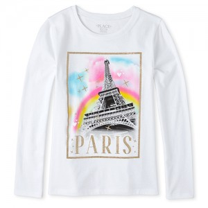 Girls Glitter Paris Graphic Tee