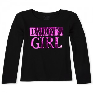 Girls Foil Daddy's Girl Graphic Tee