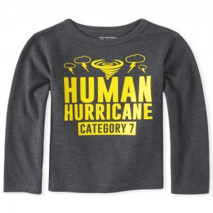 Baby And Toddler Boys Human Hurricane Graphic Tee