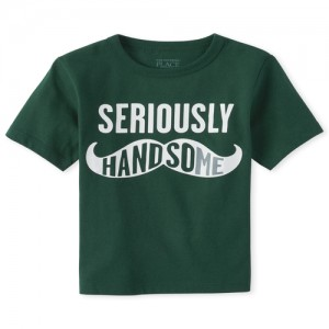 Baby And Toddler Boys Handsome Graphic Tee