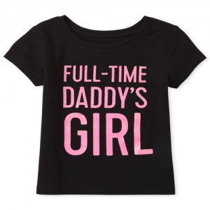 Baby And Toddler Girls Glitter Daddy's Girl Graphic Tee