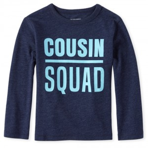 Baby And Toddler Boys Cousin Squad Matching Graphic Tee