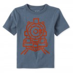 Baby And Toddler Boys Train Graphic Tee